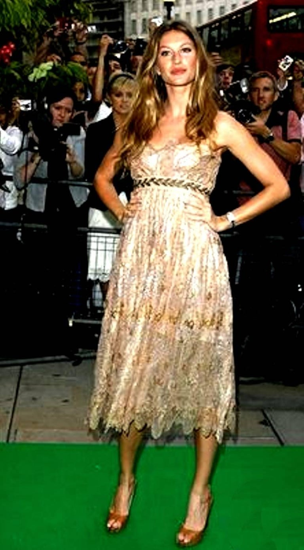 Breathtaking Dolce & Gabbana Golden Lace Tassel Empire Evening Dress Gown For Sale 1