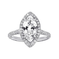 Breathtaking Marquise Cut Diamond Engagement Ring