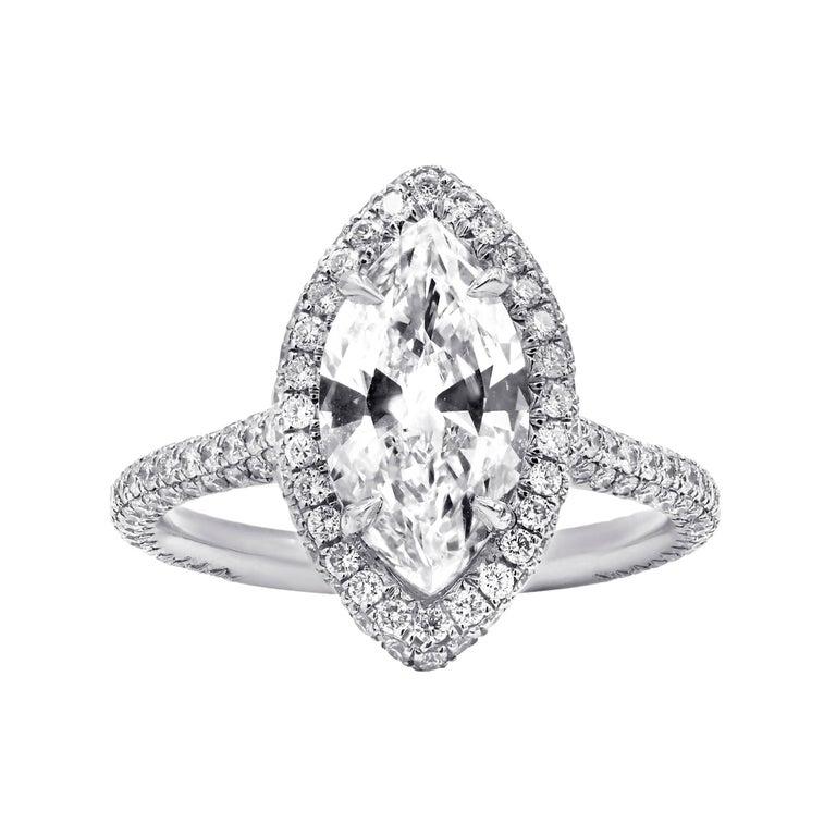 Breathtaking Marquise Cut Diamond Engagement Ring