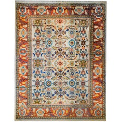 Breathtaking Mid-20th Century Sultanabad Rug