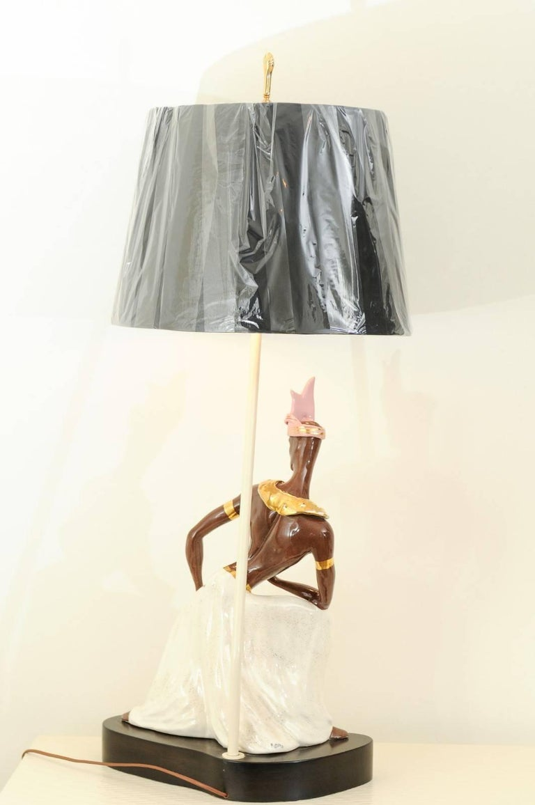 Breathtaking Pair of Exotic Large-Scale Marc Bellaire Lamps, circa 1958 For Sale 3