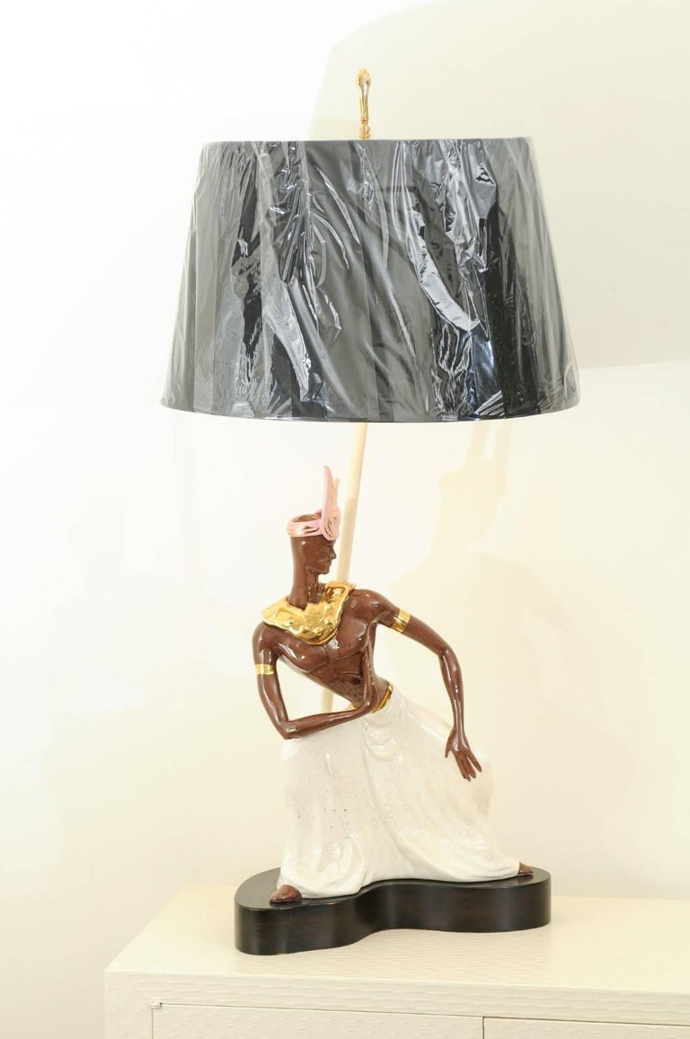 Breathtaking Pair of Exotic Large-Scale Marc Bellaire Lamps, circa 1958 For Sale 8
