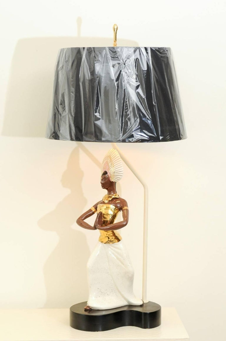 Breathtaking Pair of Exotic Large-Scale Marc Bellaire Lamps, circa 1958 For Sale 9