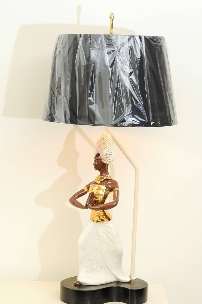 Breathtaking Pair of Exotic Large-Scale Marc Bellaire Lamps, circa 1958 For Sale 10