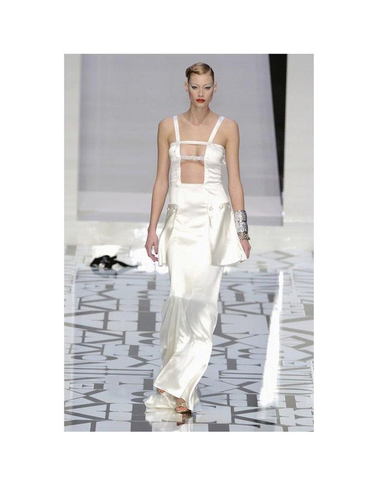 Breathtaking Valentino Silk Crystal Evening Wedding Bridal Goddess Gown Dress For Sale 7
