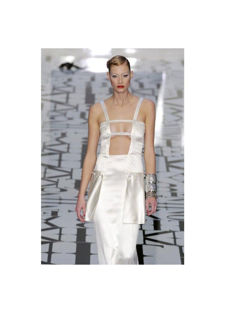 Breathtaking Valentino Silk Crystal Evening Wedding Bridal Goddess Gown Dress For Sale 8