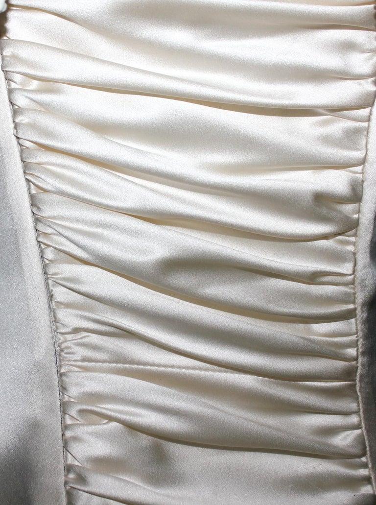Breathtaking Valentino Silk Crystal Evening Wedding Bridal Goddess Gown Dress For Sale 1