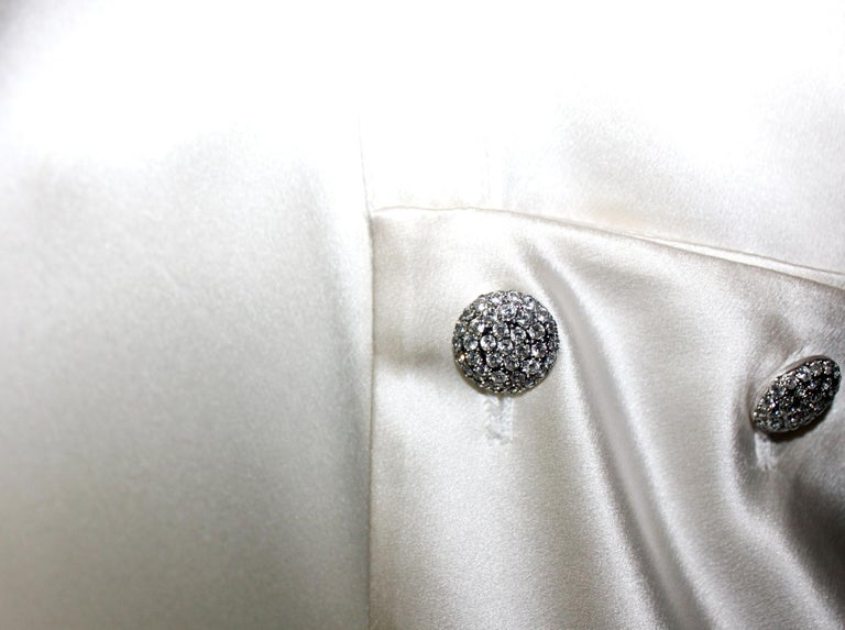 Breathtaking Valentino Silk Crystal Evening Wedding Bridal Goddess Gown Dress For Sale 3