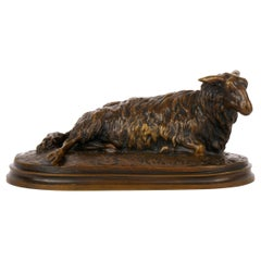 """Brebis Couchée"" Antique French Bronze Sculpture by Rosa Bonheur, circa 1870s"
