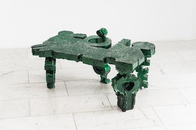 Glazed Brecht Wright Gander, Ode to the Wrong Angle Table, USA For Sale