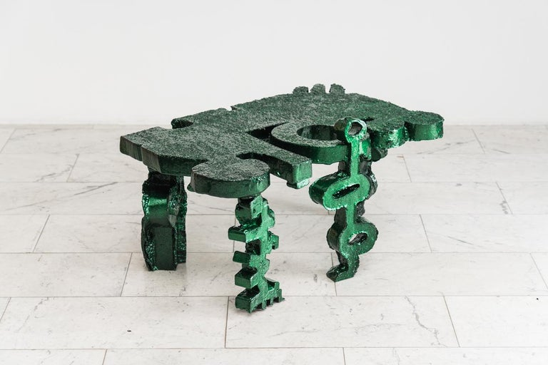 Aluminum Brecht Wright Gander, Ode to the Wrong Angle Table, USA For Sale