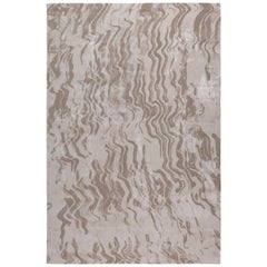 Breeze Sand by The Rug Company Hand Knotted in Wool and Silk ( 9' x 6' )