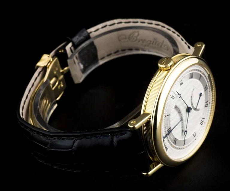 Men's Breguet 18 Karat Gold Classique Retrograde Seconds Power Reserve 5207BA/12/9V6 For Sale