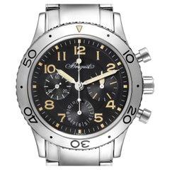 Breguet Aeronavale Type XX Flyback Black Dial Steel Mens Watch 3800
