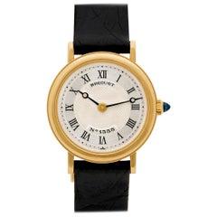 Breguet Classique 1355 A 18 Karat Yellow Gold Silver Dial Manual Watch