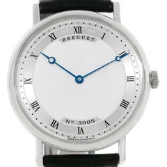 Breguet Classique 18 Karat White Gold Automatic Ultra Thin Watch 5157