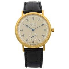 Breguet Classique 18K Gold Guilloche Dial Hand Wind Men's Watch 3910BA/15/286