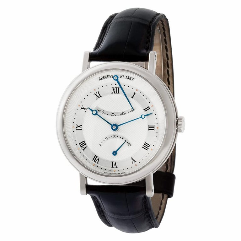Contemporary Breguet Classique 5207BA129V6, Silver Dial, Certified and Warranty For Sale