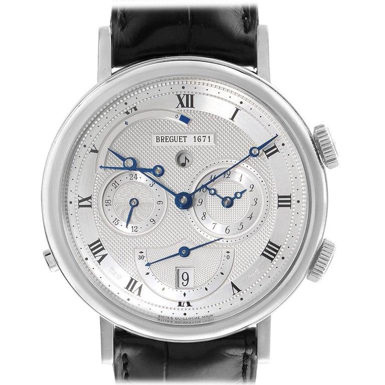 Breguet Classique Alarm Le Reveil du Tsar 18 Karat White Gold Watch 5707 For Sale