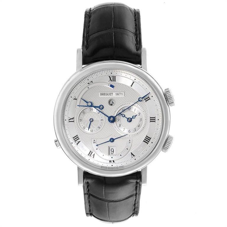Breguet Classique Alarm Le Reveil du Tsar 18 Karat White Gold Watch 5707 In Good Condition For Sale In Atlanta, GA