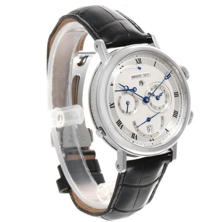 Men's Breguet Classique Alarm Le Reveil du Tsar 18 Karat White Gold Watch 5707 For Sale