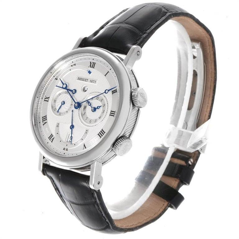 Breguet Classique Alarm Le Reveil du Tsar 18 Karat White Gold Watch 5707 For Sale 1
