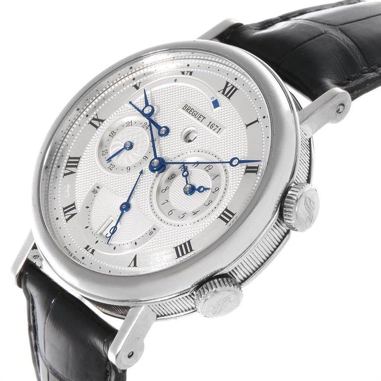Breguet Classique Alarm Le Reveil du Tsar 18 Karat White Gold Watch 5707 For Sale 2