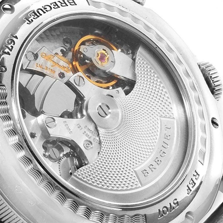 Breguet Classique Alarm Le Reveil du Tsar 18 Karat White Gold Watch 5707 For Sale 3