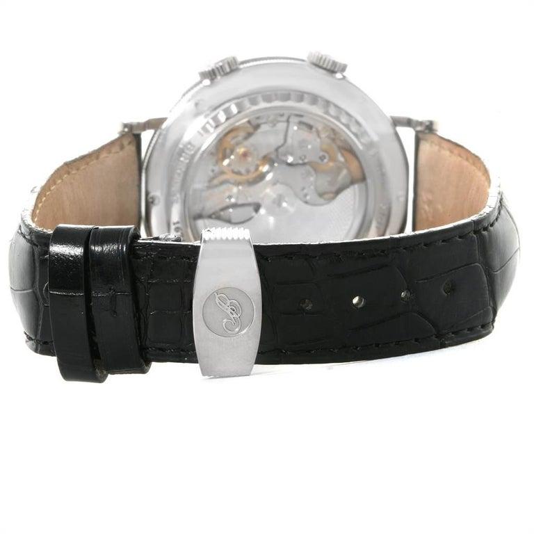 Breguet Classique Alarm Le Reveil du Tsar 18 Karat White Gold Watch 5707 For Sale 4