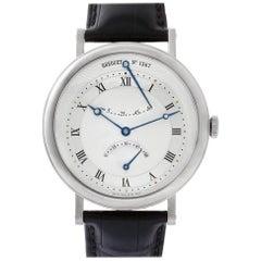 Breguet Classique Retrograde 5207 18 Karat White Gold Silver Dial Auto Watch