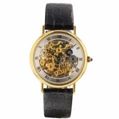 Breguet Classique Ultra Slim Skeleton 18 Karat Yellow Gold Automatic Watch 3030