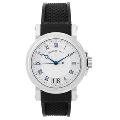 Breguet Stainless Steel Marine Big Date Automatic Wristwatch