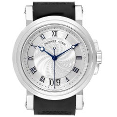 Breguet Marine Big Date Silver Dial Automatic Steel Men's Watch 5817ST