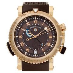 Breguet Marine Royale 5847 18 Karat Rose Gold Chocolate Dial Automatic Watch