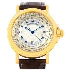Breguet Marine World Time Hora Mundi 18 Karat Yellow Gold Watch 3700