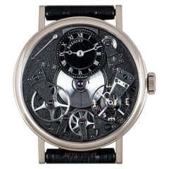 Breguet Tradition Gents 18k White Gold Grey Open Worked Dial B&P 7027BB/G9/9V6