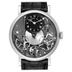 Breguet Tradition Skeleton Dial White Gold Manual Wind Men's Watch 7027BB