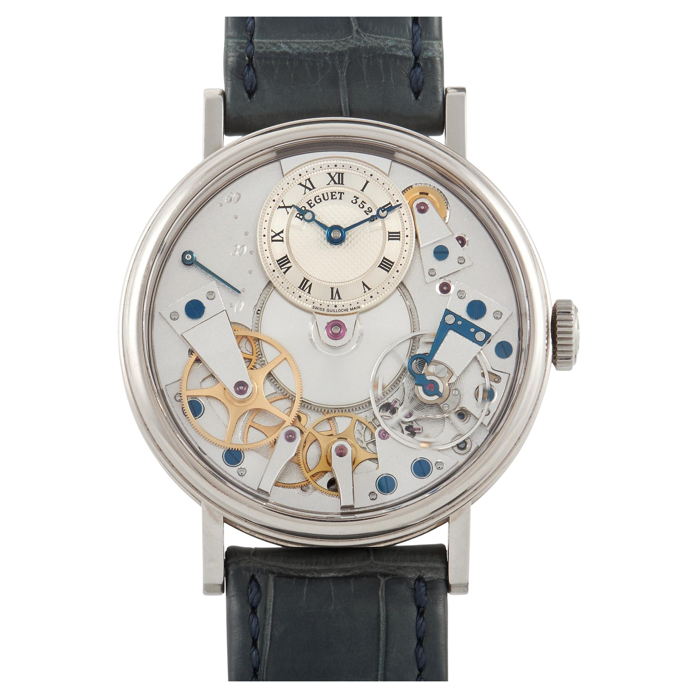 Breguet Tradition White Gold Skeleton Automatic Watch 7037BB/11/9V6