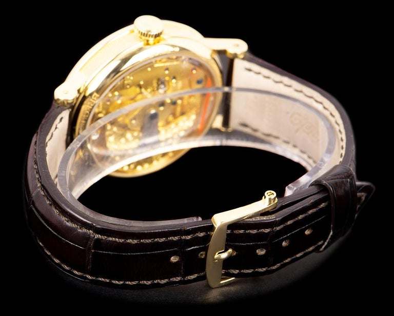 Breguet Tradition Yellow Gold Champagne Open Worked Dial 7037BA/11/9V6 Watch For Sale 2