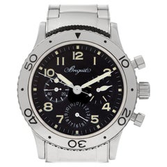 Breguet Type XX 3800 Stainless Steel Black Dial Automatic Watch