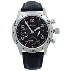 Breguet Type XX Aeronvale Steel Black Dial Automatic Men's Watch 3800ST/92/9W6
