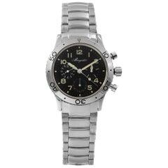 Breguet Type XX Aeronvale Steel Black Dial Automatic Men's Watch 3800ST/92/SW9