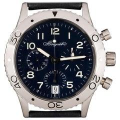 Breguet Type XX Transatlantique Flyback Platinum Blue Dial 3820 Watch