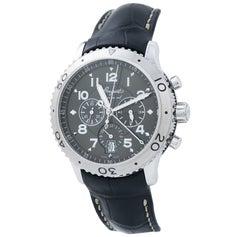 Breguet Type XXI Flyback Chronograph 3810 SS Ruthenium Dial Auto Men's Watch