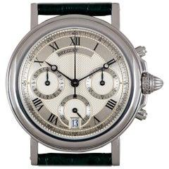 Breguet Unworn Marine Chronograph Platinum Silver Guilloche Dial 3460PT/12/996