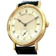 """Breguet Watch, 18 Karat Yellow Gold, Nr 5907 """"Classique"""" Hand Wound Movement"""