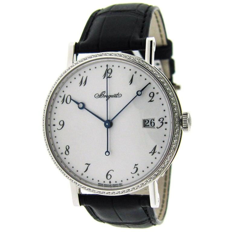 Breguet White Gold Diamond Classique Ultra Thin Self-Winding Wristwatch