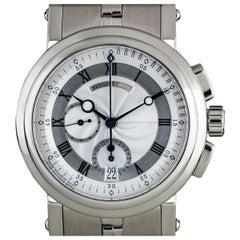 Breguet White Gold Silver Dial Marine Chronograph B&P 5827BB/12/BZ0
