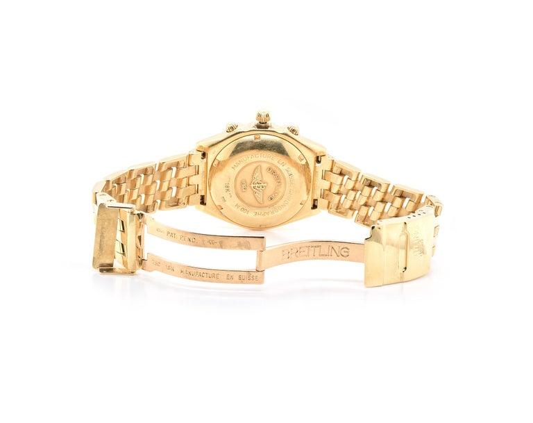 Men's Breitling 18 Karat Yellow Gold Chronomat For Sale