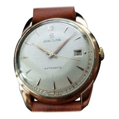 Breitling 18k Gold Men's Bidynator Automatic with Date, circa 1960s Swiss MS112